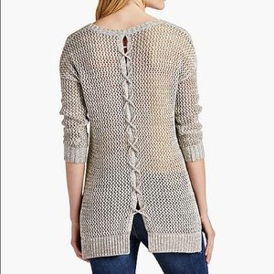 NWOT Lucky Brand Lace Back Tunic Sweater